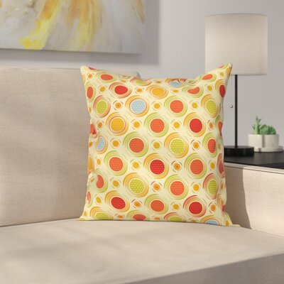 Dots Striped Square Pillow Cover Size: 24 x 24