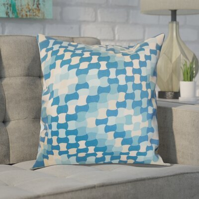 Hubbs Cotton Throw Pillow Color: Aquamarine, Size: 20 x 20
