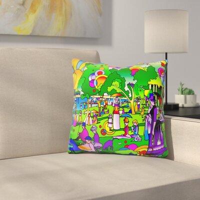 Mattison Grande Jatte Throw Pillow Color: Green