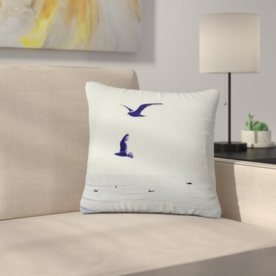 Two If by Sea Nautical Photography Outdoor Throw Pillow Size: 16 H x 16 W x 5 D