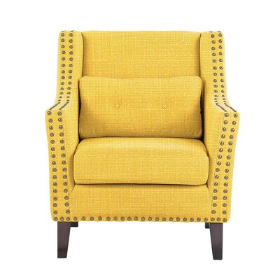 Despain Wingback Chair Upholstery: Rollins Yellow Solid