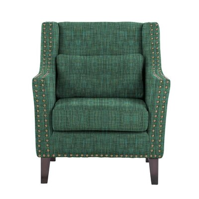 Despain Wingback Chair Upholstery: Cali Green/Blue/Gray Solid