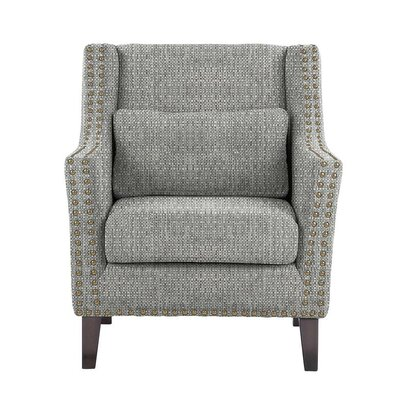 Despain Wingback Chair Upholstery: Rollins Light Gray Solid