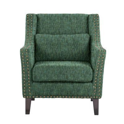 Despain Wingback Chair Upholstery: Summit Green/Blue/Gray Solid