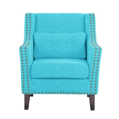 Despain Wingback Chair Upholstery: Helio Teal Solid