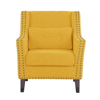 Despain Wingback Chair Upholstery: Helio Yellow Solid