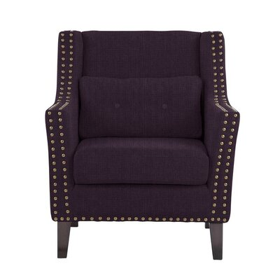 Despain Wingback Chair Upholstery: Helio Plum/Purple Solid