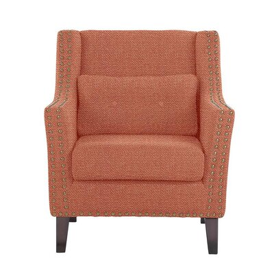 Despain Wingback Chair Upholstery: Eclipse Coral/Red/Pink Solid