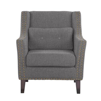 Despain Wingback Chair Upholstery: Eclipse Gray Solid