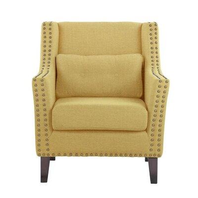 Despain Wingback Chair Upholstery: Aldridge Taupe/Tan/Beige Solid