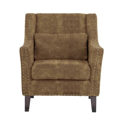 Despain Wingback Chair Upholstery: Sonoma Brown Solid