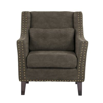 Despain Wingback Chair Upholstery: Sonoma Gray Brown Solid