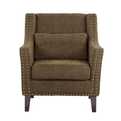 Despain Wingback Chair Upholstery: Sonoma Brown/Gray Solid