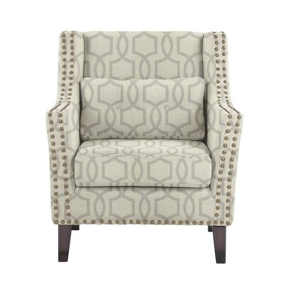 Despain Wingback Chair Upholstery: Vanguard Gray Geometric