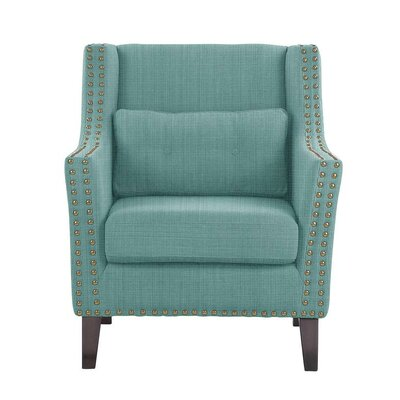Despain Wingback Chair Upholstery: Guylene Light Blue Solid