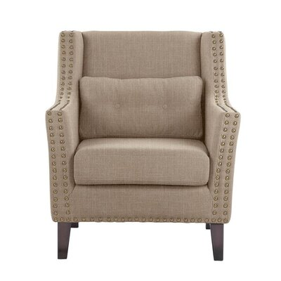 Despain Wingback Chair Upholstery: Verge Beige Solid