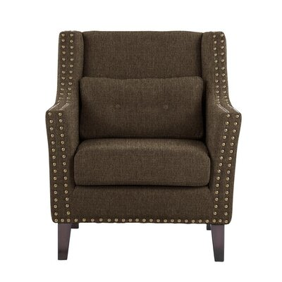 Despain Wingback Chair Upholstery: Verge Gray/Brown Solid