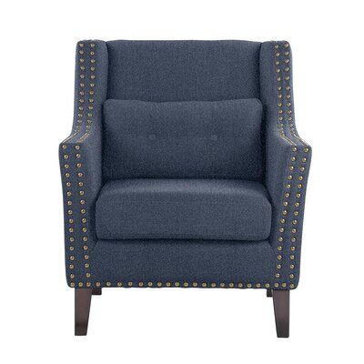 Despain Wingback Chair Upholstery: Elon Blue Solid
