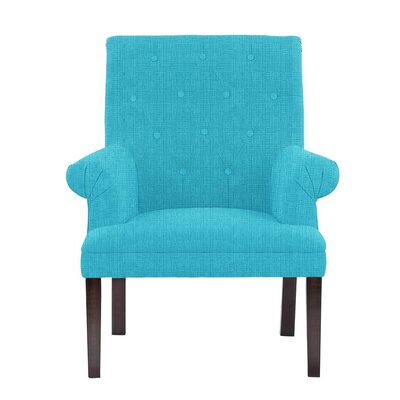 Hudspeth Armchair Upholstery: Helio Teal Solid