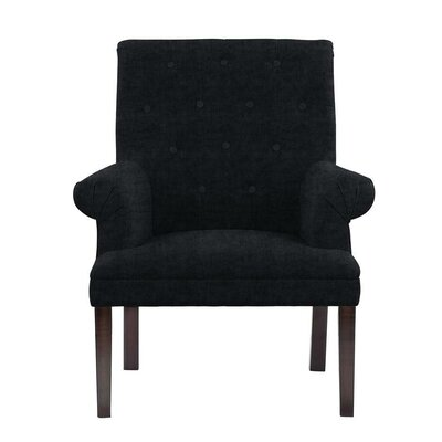 Hudspeth Armchair Upholstery: Sonoma Black Solid