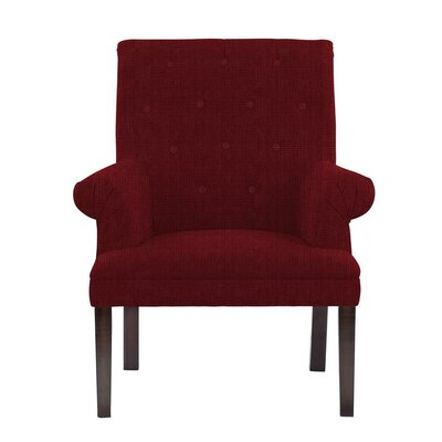 Hudspeth Armchair Upholstery: Helio Burgundy/Red Solid