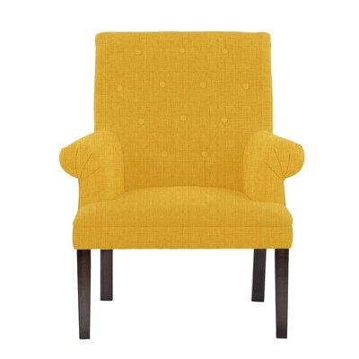 Hudspeth Armchair Upholstery: Helio Dark Yellow Solid