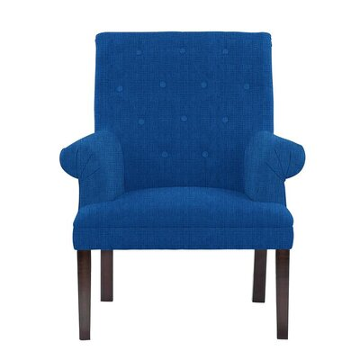 Hudspeth Armchair Upholstery: Helio Royal Blue Solid