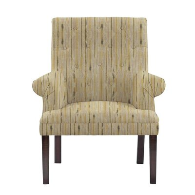 Hudspeth Armchair Upholstery: Telsa Gray/Cream Striped