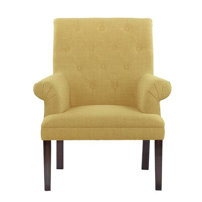 Desrochers Armchair Upholstery: Aldridge Yellow/Beige Solid