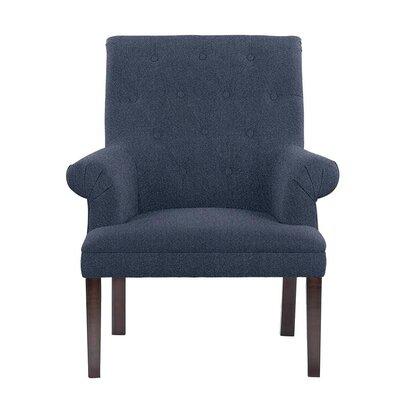 Hudspeth Armchair Upholstery: Elon Blue Solid