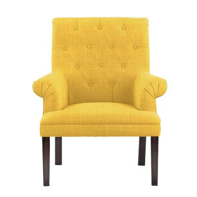 Hudspeth Armchair Upholstery: Rollins Yellow Solid