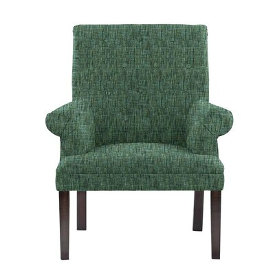 Desrochers Armchair Upholstery: Summit Green/Blue/Gray Solid