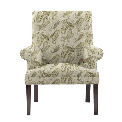 Desrochers Armchair Upholstery: Surrey Off-White/Gray Paisley