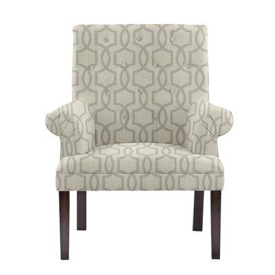 Hudspeth Armchair Upholstery: Vanguard Gray Geometric