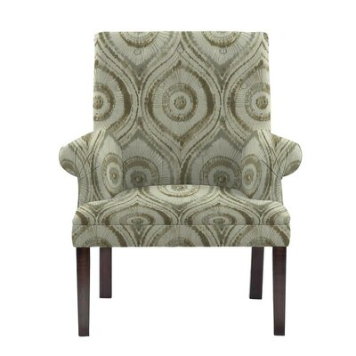 Desrochers Armchair Upholstery: Satori Off-White/Green Geometric