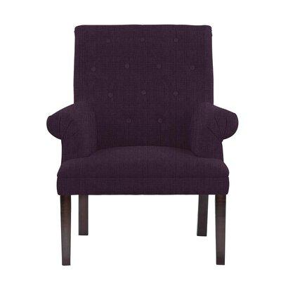 Hudspeth Armchair Upholstery: Helio Plum/Purple Solid