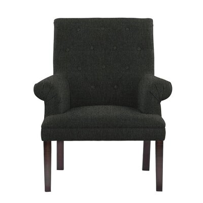 Hudspeth Armchair Upholstery: Verge Dark Gray/Green Solid