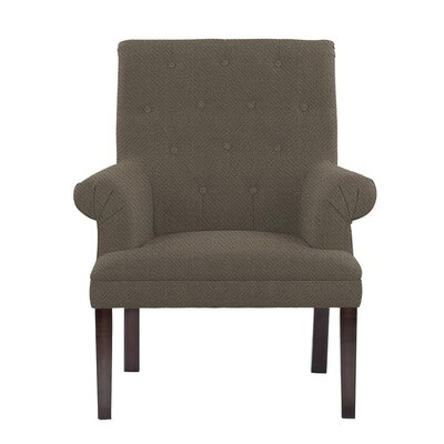Hudspeth Armchair Upholstery: Eclipse Gray/Brown Solid