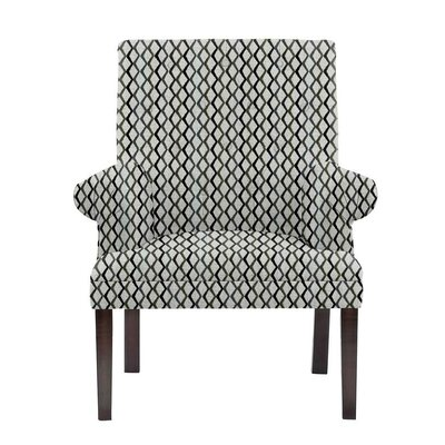 Woodley Armchair Upholstery: Zenith Gray/blue/off-white Geometric