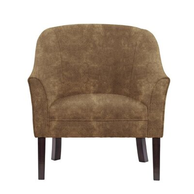 Ericksen Barrel Chair Upholstery: Sonoma Brown Solid