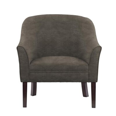 Ericksen Barrel Chair Upholstery: Sonoma Gray Brown Solid