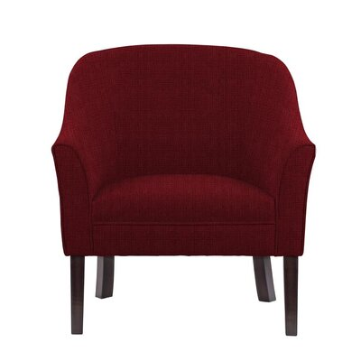 Ericksen Barrel Chair Upholstery: Helio Burgundy/Red Solid
