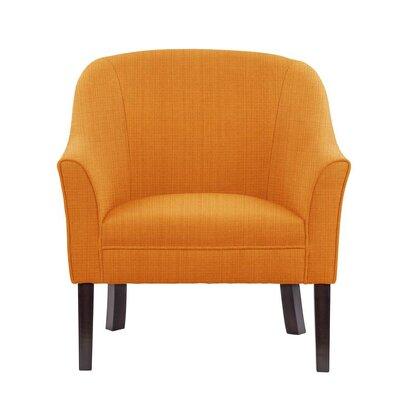 Ericksen Barrel Chair Upholstery: Guylene Orange Solid