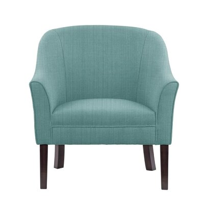 Ericksen Barrel Chair Upholstery: Guylene Light Blue Solid