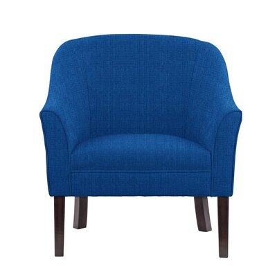 Ericksen Barrel Chair Upholstery: Helio Royal Blue Solid