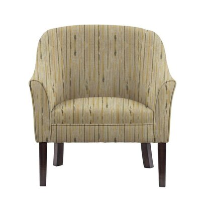 Ericksen Barrel Chair Upholstery: Telsa Gray/Cream Striped