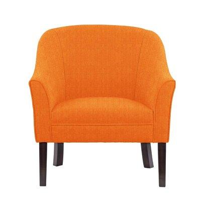Ericksen Barrel Chair Upholstery: Helio Orange Solid