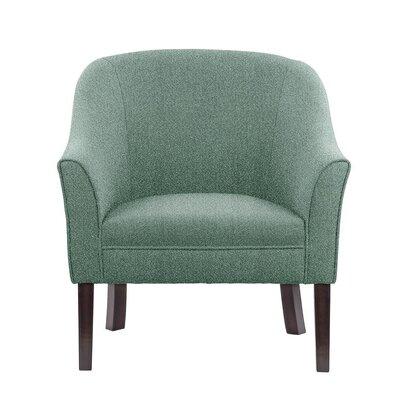 Ericksen Barrel Chair Upholstery: Elon Gray/Blue Gray Solid