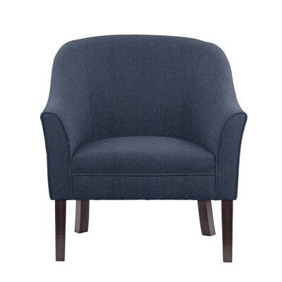 Ericksen Barrel Chair Upholstery: Elon Blue Solid