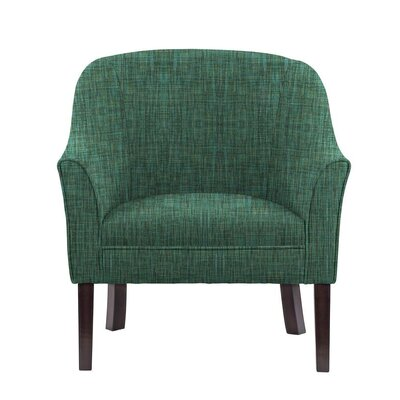 Ericksen Barrel Chair Upholstery: Cali Green/Blue/Gray Solid